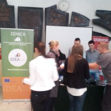 Presentation of iDEAlab project at the open door day event of the University of Zenica