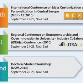1st REGIONAL CONFERENCE ON ENTREPRENEURSHIP AND OPEN INNOVATION IN UNIVERSITY- INDUSTRY COLLABORATION (iDEAlab-2016) HELD AT THE UNIVERSITY OF NOVI SAD